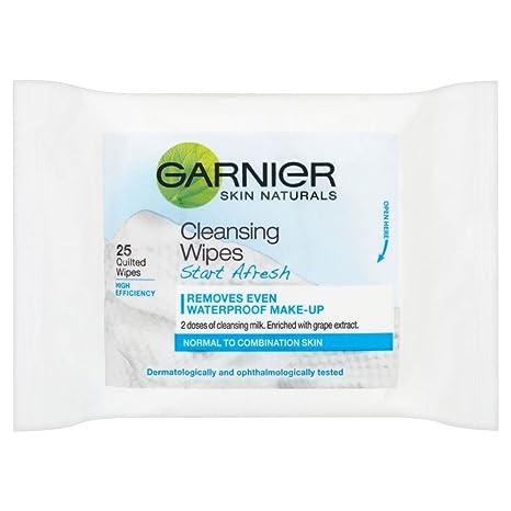 Garnier Skin Naturals Comenzar De Nuevo La Limpieza Completa Toallitas (25) (Paquete de