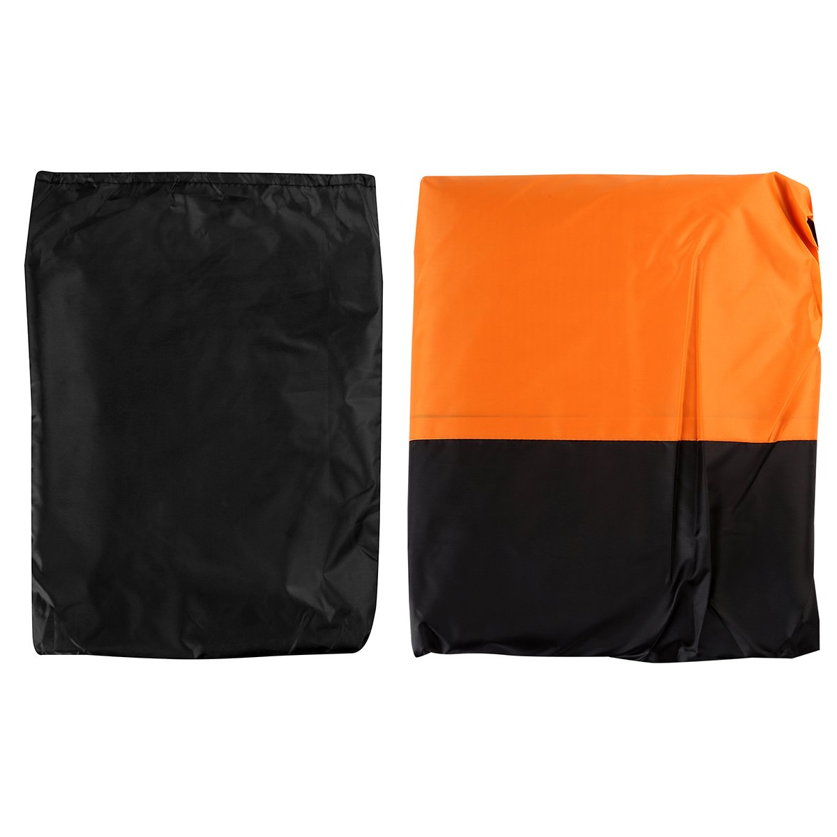 LEANINGTECH All Season Black&Orange Waterproof Sun Motorcycle cover, Fits up to 108'' Harley Davison, Honda, Suzuki, Kawasaki, Yamaha,Street Glide Touring and More (XX Large)