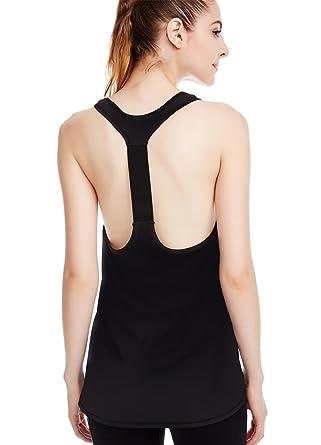 b720b9e8905e8 icyzone Workout Yoga Fitness Sports Racerback T-Back Tank Top for Women (S,