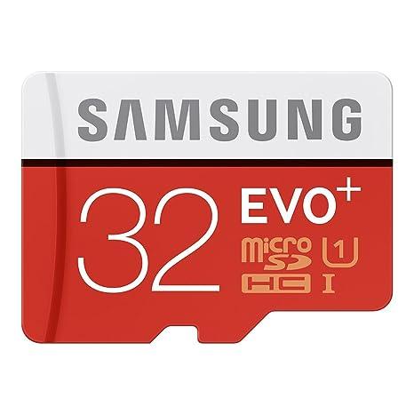 Samsung EVO Plus MicroSD Card 32GB MicroSDHC UHS-I Class 10 Memoria Flash - Tarjeta de Memoria (MicroSDHC, UHS-I, Class 10, Negro, Rojo, Color Blanco, ...