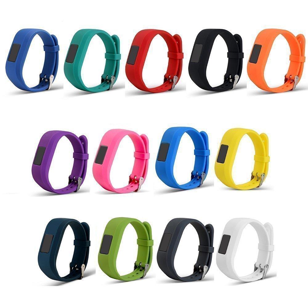 For Garmin Vivofit jr / Vivofit jr 2 Replacement Bands(2-Pack,3-Pack.5-Pack)RuenTech Colorful Adjustable Wristbands With Secure Watch-style Clasp Strap For Garmin Vivofit jr / Vivofit jr.2 (13 Colors)