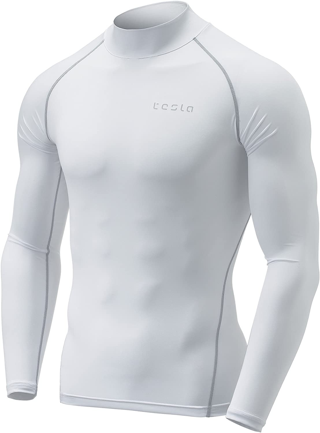 TSLA Men's (Pack of 1,2) Thermal Wintergear Compression Baselayer Mock Long Sleeve Shirt
