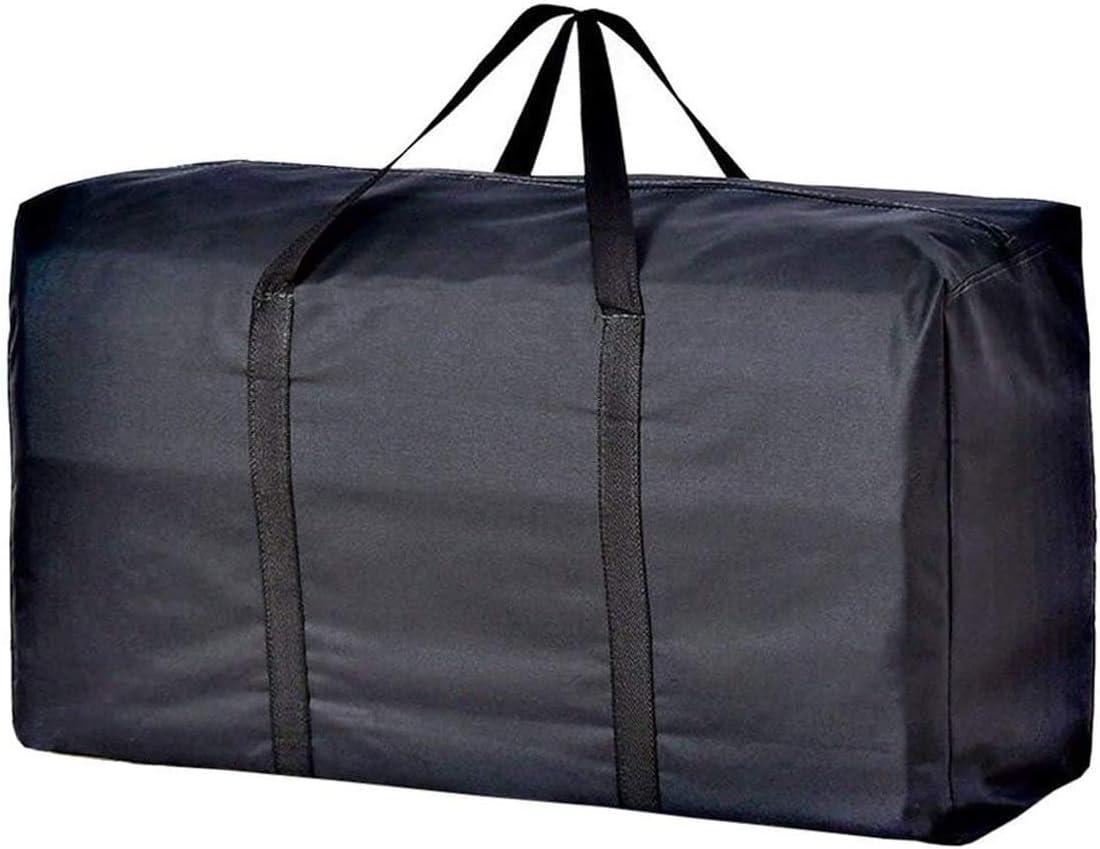 Bolsa de almacenamiento de gran tama/ño de 160 l con cremallera extra grande impermeable organizador edredones manta ropa bolsa para viajar camping universidad llevar mudanzas decoraciones de Navidad