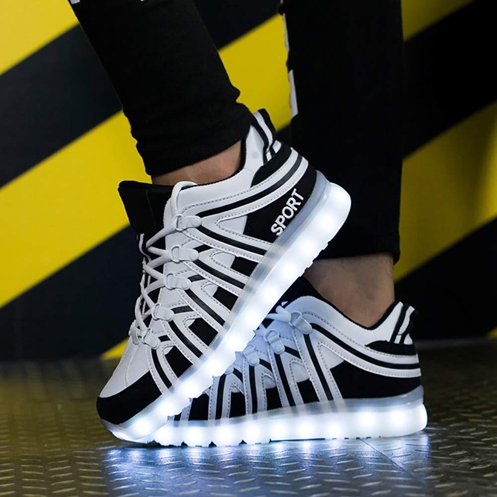 Unisex Schuhe Mode Komfort LED Glanz Schuhe USB Lade Licht Breathable Turnschuhe Space Leder Velcro Trainer Schuhe/Weihnachten, Halloween, Ghost Step Dance Schuhe