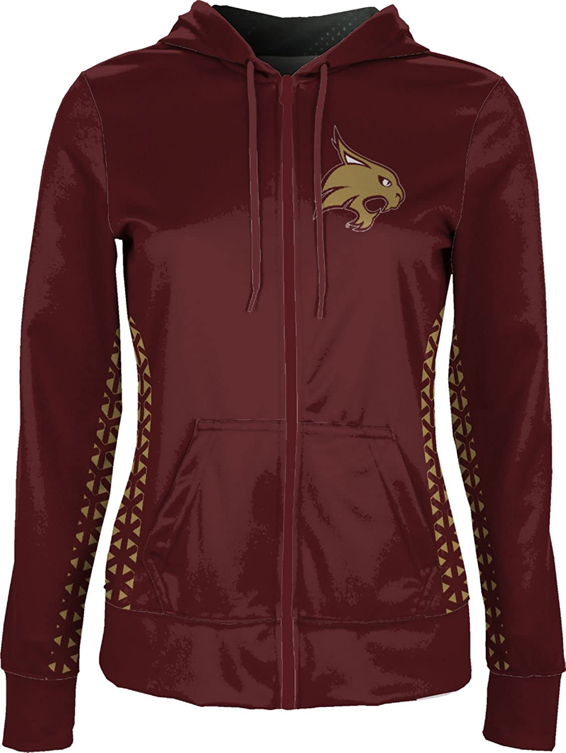 Geo School Spirit Sweatshirt ProSphere Texas State University Girls Zipper Hoodie