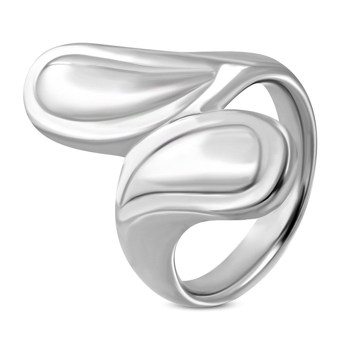 Stainless Steel Teardrop Bypass Fancy Ring
