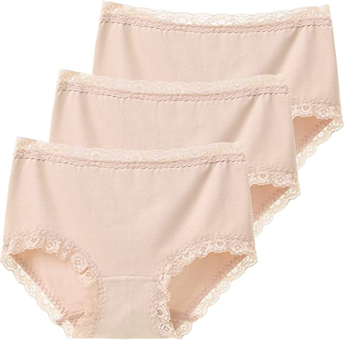 "**3 Pack** Girls Womens Lace Brief Panties *To Fit 25/""-31/"" *3 Colours*UK Seller*"