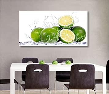 Lime - Quadro moderno intelaiato 90x45 cm tela stampa quadri ...