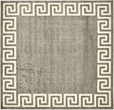 A2Z Rug Modern Contemporary Area Rug Geometric Gray 8′ x 8′ FT Santorini Collection Rugs – rugs for living room – rugs for dining room & bedroom – Floor Carpet Review