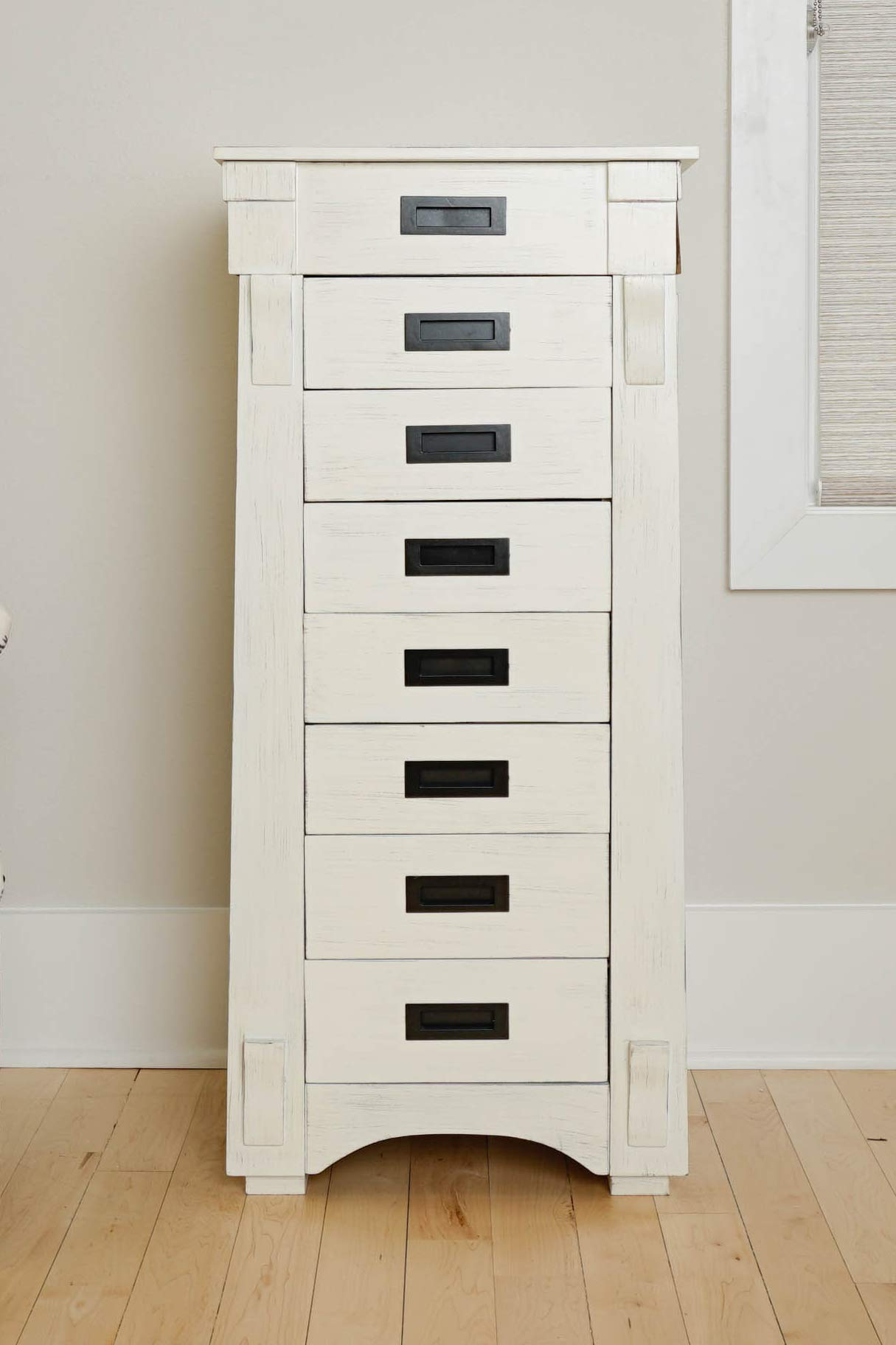 Hives and Honey 6008-349 Mission Standing Jewelry Armoire White