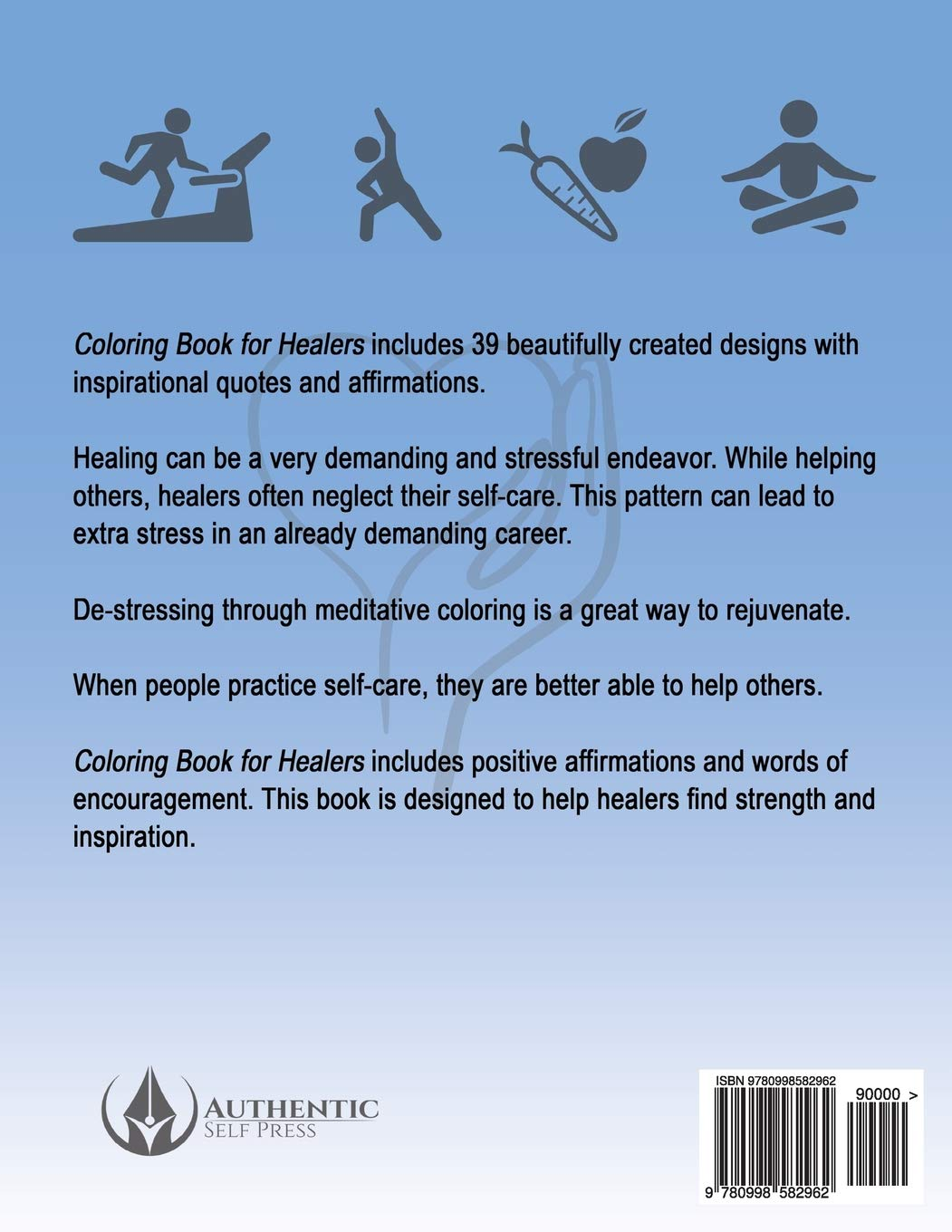 Amazon.com: Coloring Book for Healers: Stress Relieving Designs ...