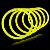 "8"" Lumistick Glowsticks Glow Stick Bracelets YELLOW (Tube of 100)"