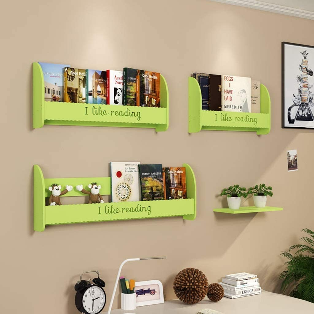 本棚フリーパンチシンプルマガジンラック情報フレームベッドフレーム本棚ホームデコレーション本棚を壁に取り付けられました