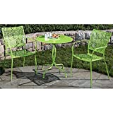 Alfresco Home Martini Round Bistro Set, Key Lime Finish, 27.5-Inch
