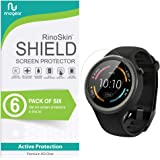 [6-Pack] RinoGear for Motorola Moto 360 Sport Screen Protector [Active Protection] Full Coverage Flexible HD Crystal Clear Anti-Bubble Film