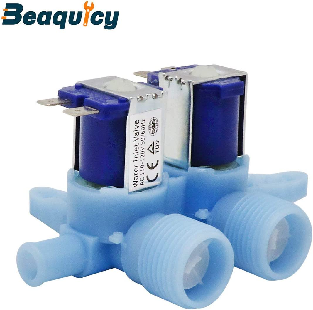 WH13X10024 Water Inlet Valve by Beaquicy - Replacement for GE Hotpoint Washers - Washer Dual Water Inlet Valve for 1 Pack Set