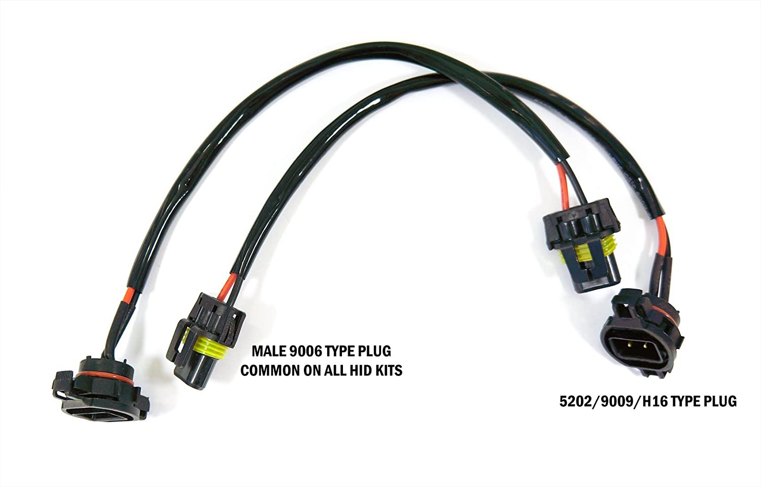 Genssi Ps24wff 5202 9009 2504 Input Power Plug Wire Harness Hid Wiring Ballast To Car Pack