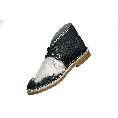 Uwezo Women's Desert Boot Black & White