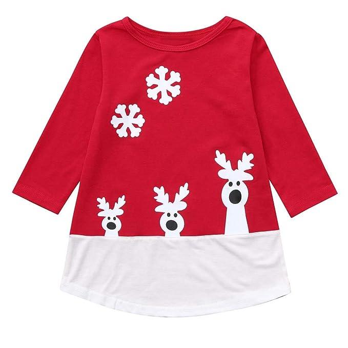870798638 Vestido de Navidad Manga Larga Invierno para Niña Fiesta 12 Meses - 5 años  PAOLIAN Vestido