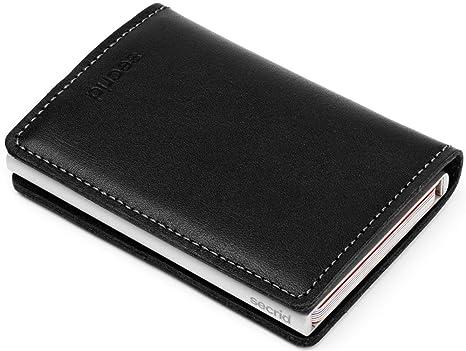 comprare on line e314c 61125 Carte RFID card protector secrid custodia a portafoglio in pelle nera slim