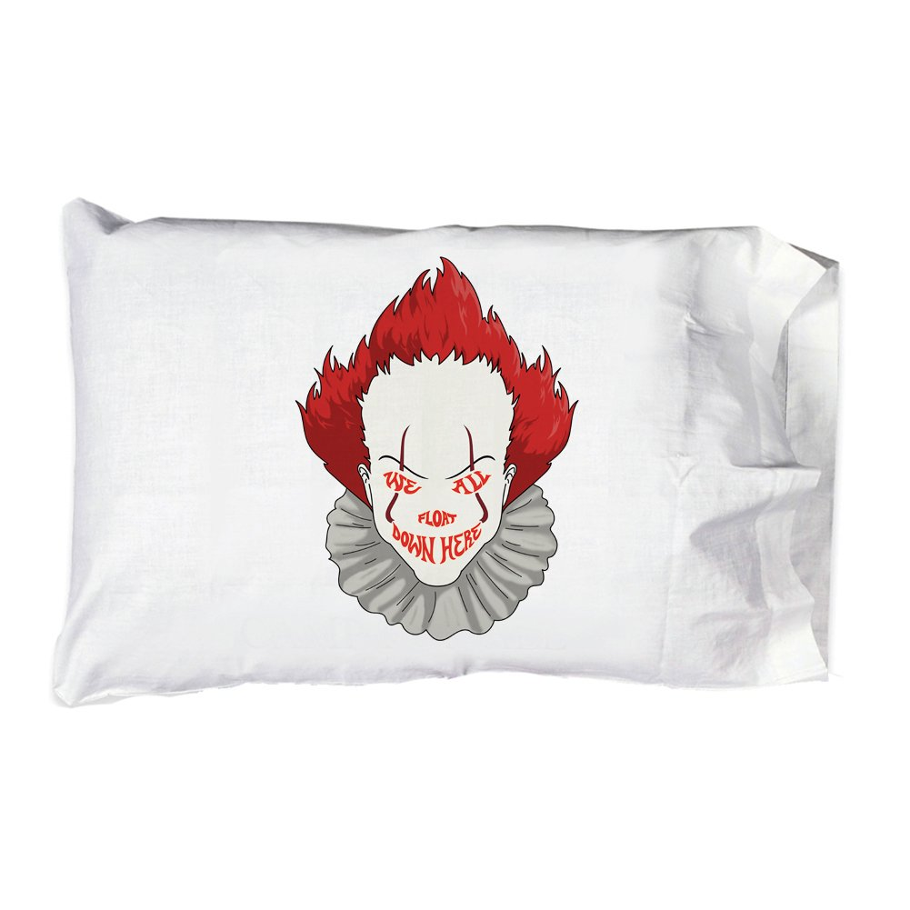 Hat Shark Pillow Case Single Pillowcase - We All Float Down Here Horror Movie Clown
