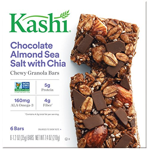Kashi Chewy Granola Bars, Chocolate Almond and Sea Salt with Chia, 7.4 (Sugar Free Almond Syrup)
