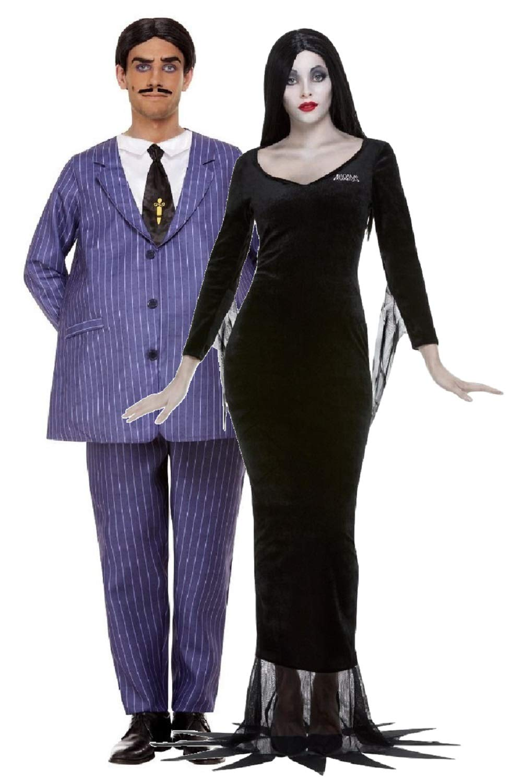 Fancy Me Disfraz Oficial de Gomez y Morticia Addams de Halloween ...