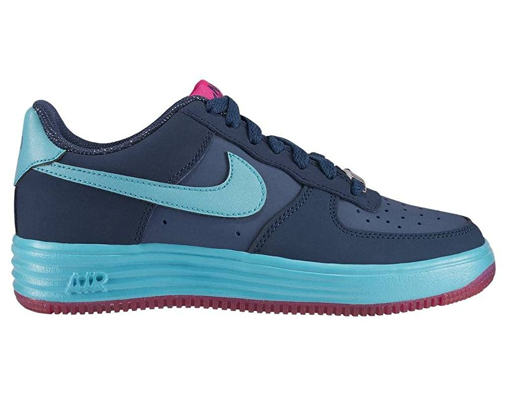 GS Nike Boys Lunar Force 1 Brave Blue//Gamma Blue-Pink FOIL 4.5Y