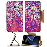 Luxlady Premium Samsung Galaxy S7 Flip Pu Leather Wallet Case IMAGE ID: 38234959 Micro Crystals in polarized Light