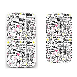 Hybrid High Impact Ultra Thin Hard Back Phone Case Cover for Samsung Galaxy S3 I9300 (quotes graphic BY817)