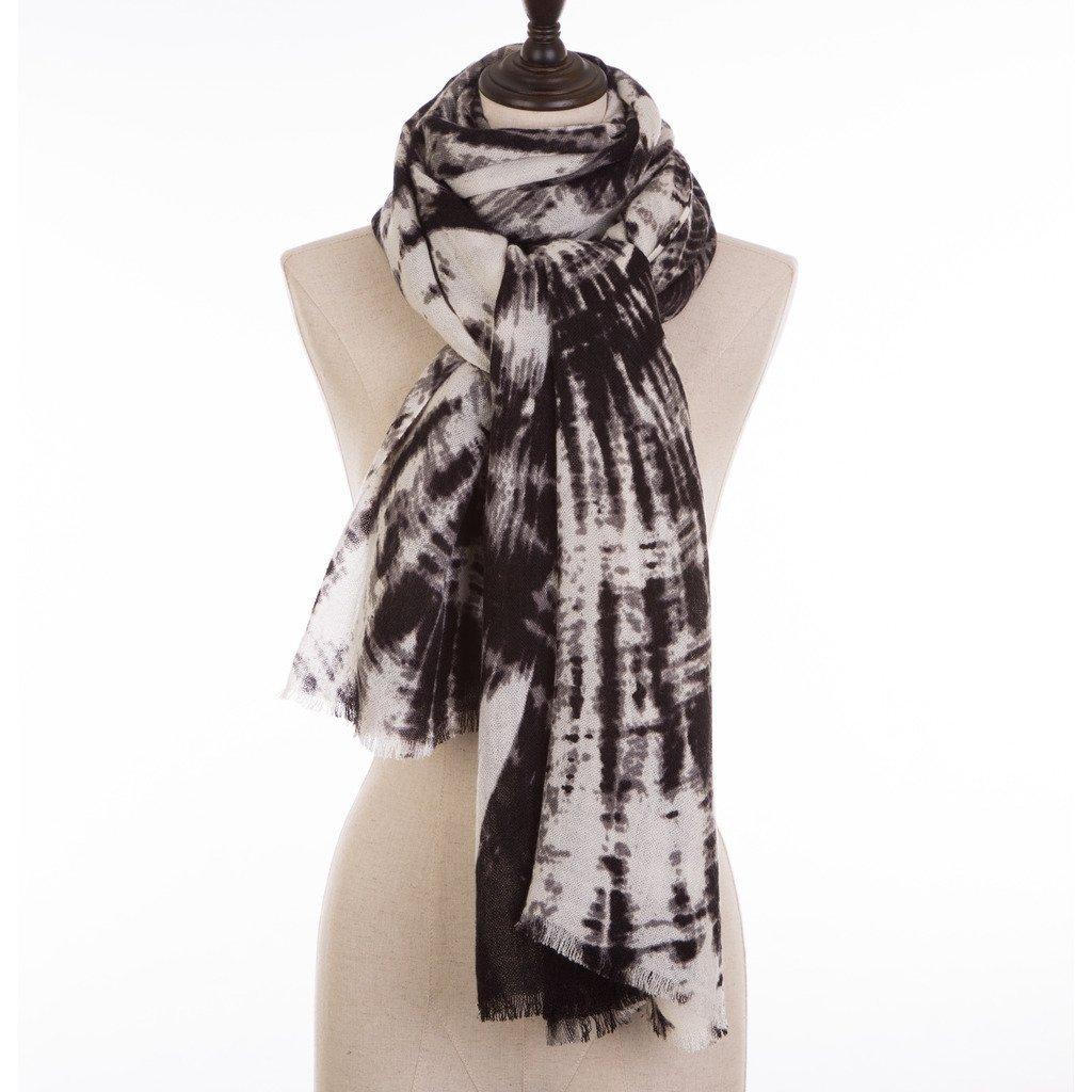 One Size White//Black eUty Unisex-Adult Autumn Winter Soft Stripe Lattice Scarf