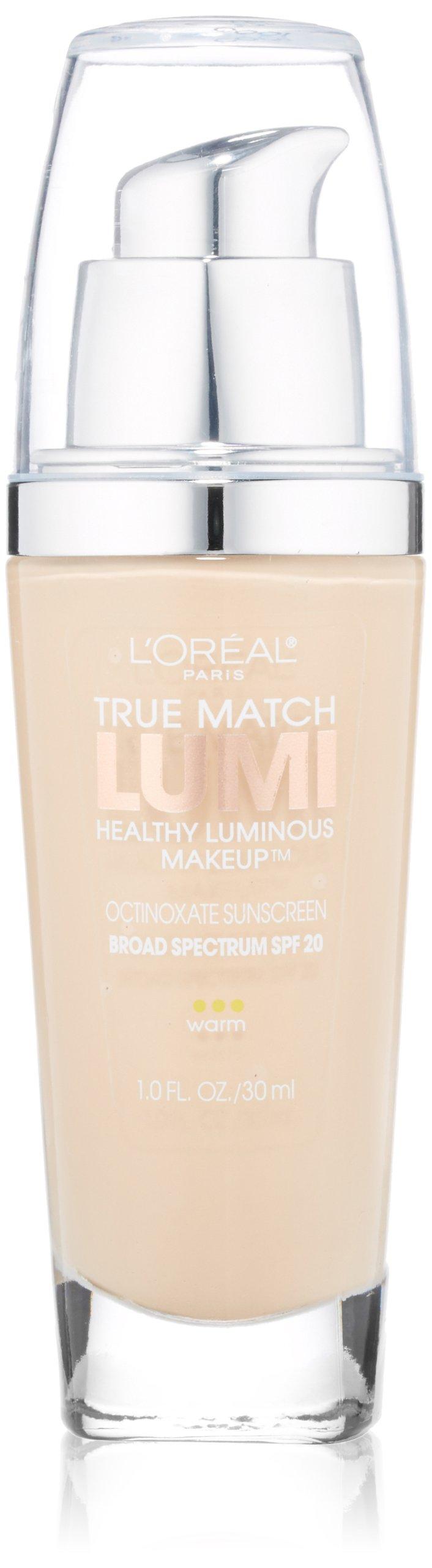 L'Oreal Paris True Match Lumi Healthy Luminous Makeup, W1-2 Porcelain/Light Ivory, 1 fl; oz.