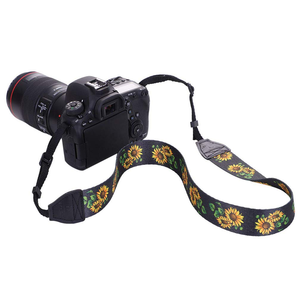 GUAngqi Retro Classical Camera Strap Camera Single Shoulder Lens Strap Camera Neck Strap for Canon Nikon Sony DSLR Camera,Sunflower Color,Cotton by GUAngqiqi (Image #4)