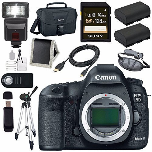 Canon EOD 5D III Digital Camera + LPE-6 Lithium Ion Battery + Canon 100ES EOS shoulder bag Bundle 3