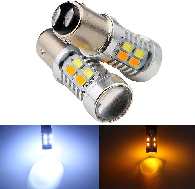 Pack of 4 Grandview 3157 5730 20 SMD Amber//White Switchback Turn Signal LED Light Bulbs 3.8W 12V LED Super Bright 600 Lumens 6000-6500K Brake Light Lamp
