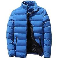 Meihet Chaqueta de plumón para Hombre, Abrigo abrigado de Invierno, Outwear con Cremallera y Cuello Alto de Manga Larga