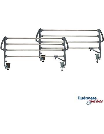 Universal Pr/ácticas y seguras Duermete Juego de Barandillas Met/álicas Geri/átricas Abatibles Reforzadas para Cama Articulada con 3 Barras