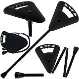 Flipstick Straight Folding Seat Cane Black w/ Black Bag - Non-Adjustable
