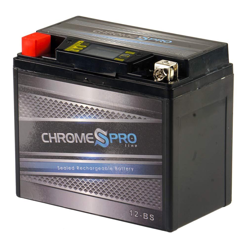 Chrome Battery YTX12-BS IGEL AGM Battery