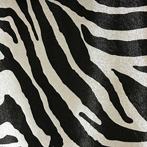 (Chester - Zebra Print Vinyl Faux Leather Upholstery Fabric by The Yard)