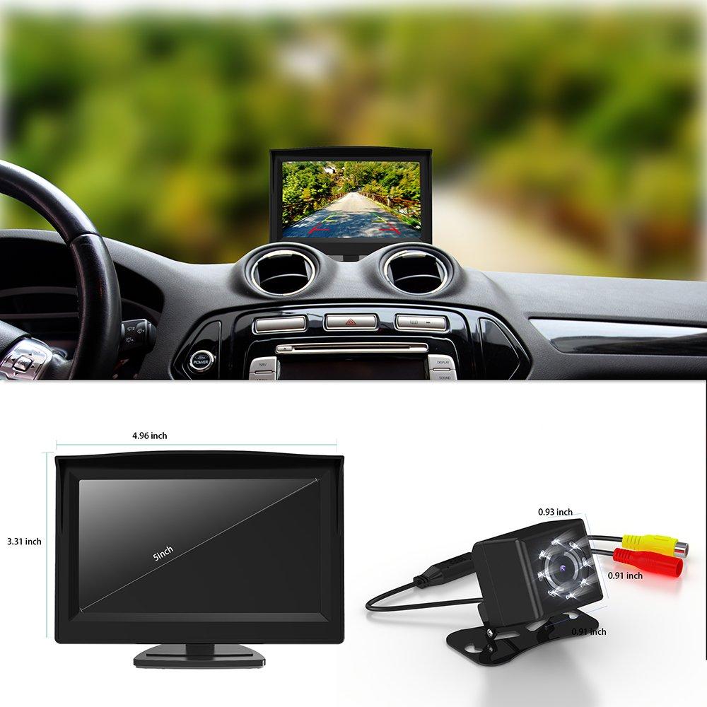 Reserva de la cá mara GOGO sin caminos AC00011 LED del coche del vehí culo y el kit del monitor GOGO ROADLESS