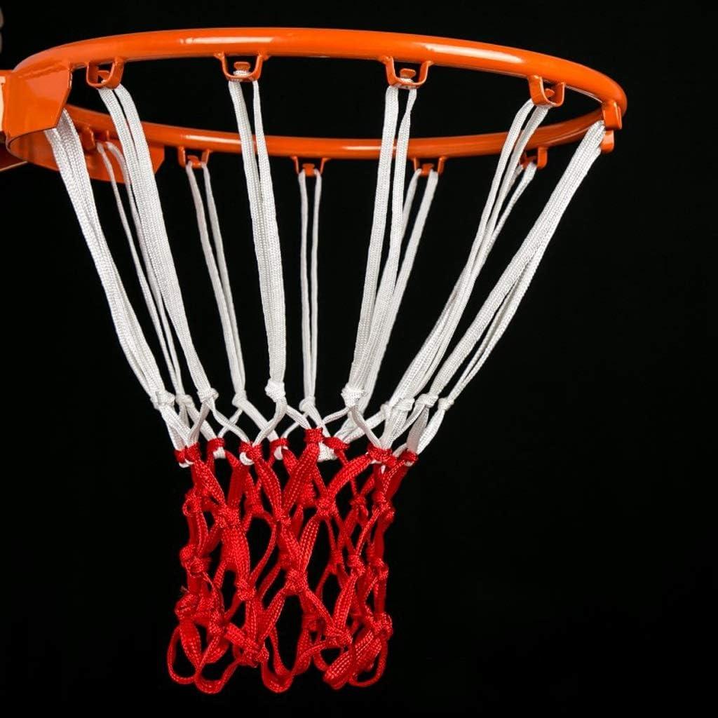 King Boutiques Red De Baloncesto Aut/éntica Cesta Basket Red Basketball Frame Iron Free Punching Basketball Net Basketball Profesional para Interiores y Exteriores Equipo Deportivo