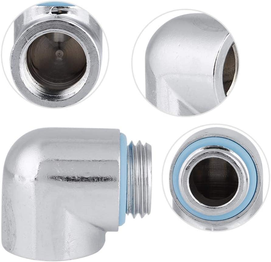 Hard//Soft Tube Two-Touch Fitting 90/° Elbow Connector Rotatable for PC Water Cooling fosa G1//4 Thread Water-Cooled Connector with Silicone Ring