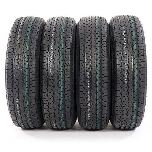 MILLION PARTS Set of 4 ST225/75-15 10 Ply E Load Radial Trailer Tires 2257515 22575R15