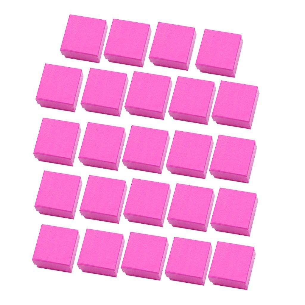 Baoblaze 24 Unids de Caja de Almacenamiento de Papel de Cartón Organizador de Navidad Elegante - Rosa roja: Amazon.es: Hogar