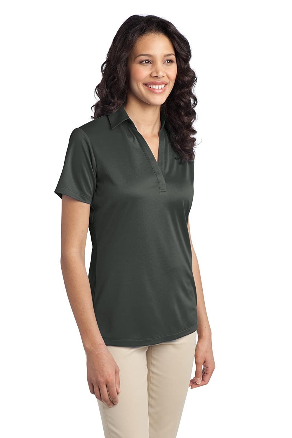 Port Authority Womens Silk Touch Performance Polo XS Steel Grey ...