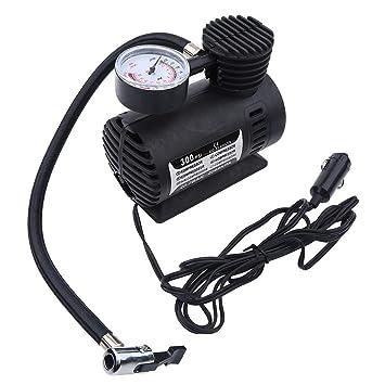 Compresor de aire 12V - Delaman Mini compresor de Aire Eeléctrico Neumático Infaltor Bomba Coche de 12 voltios 300 PSI: Amazon.es: Coche y moto