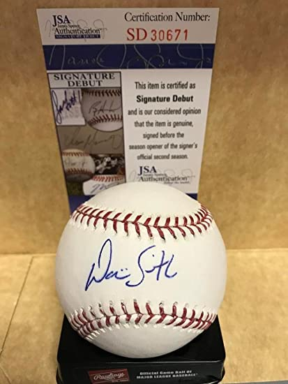 Dominic Smith New York Mets Signed Autograph Baseball Autographs-original