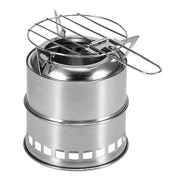 Walmeck- Estufa Plegable portátil para Acampar Estufa de ...