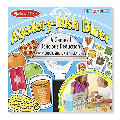 Melissa & Doug Mystery Dish Diner Game for Kids (68 pcs)